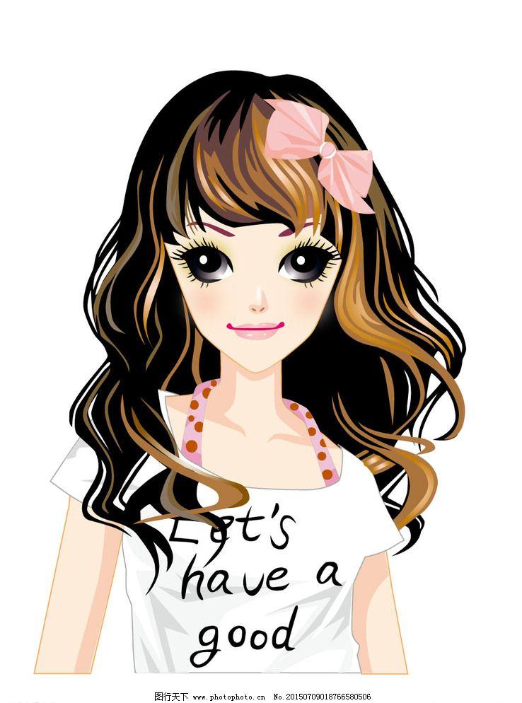 卡通 漂亮 女孩图片