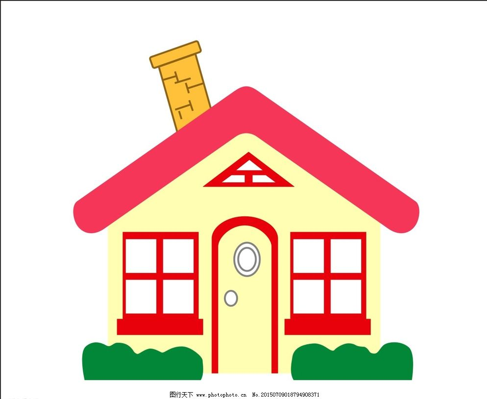 矢量卡通房子图片