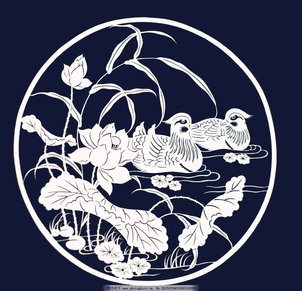 鸳鸯戏水图图片