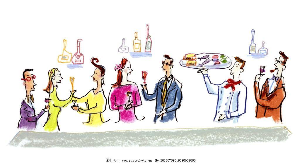 绘画动物们的聚会