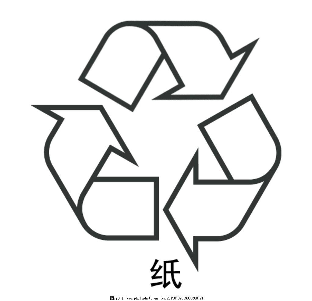 各种环保标志简笔画