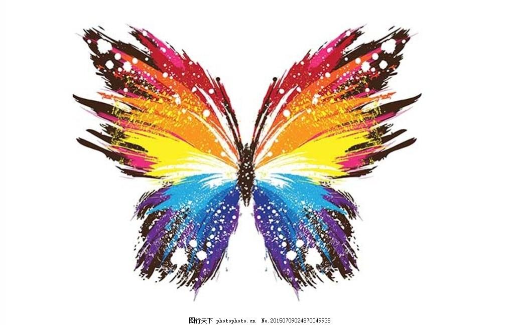 炫彩高清手绘蝴蝶造型图片