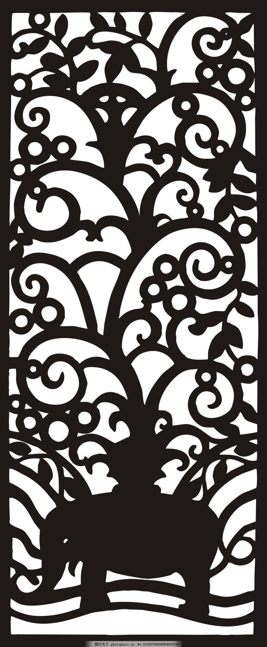矢量镂空雕刻移门花 镂空花纹图案 镂空雕刻镂空隔断室内镂空隔断欧式