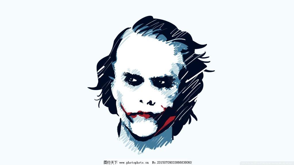 小丑 漫画 人物      手绘 美国 电影海报 科幻 科技 蝙蝠侠 黑暗骑士