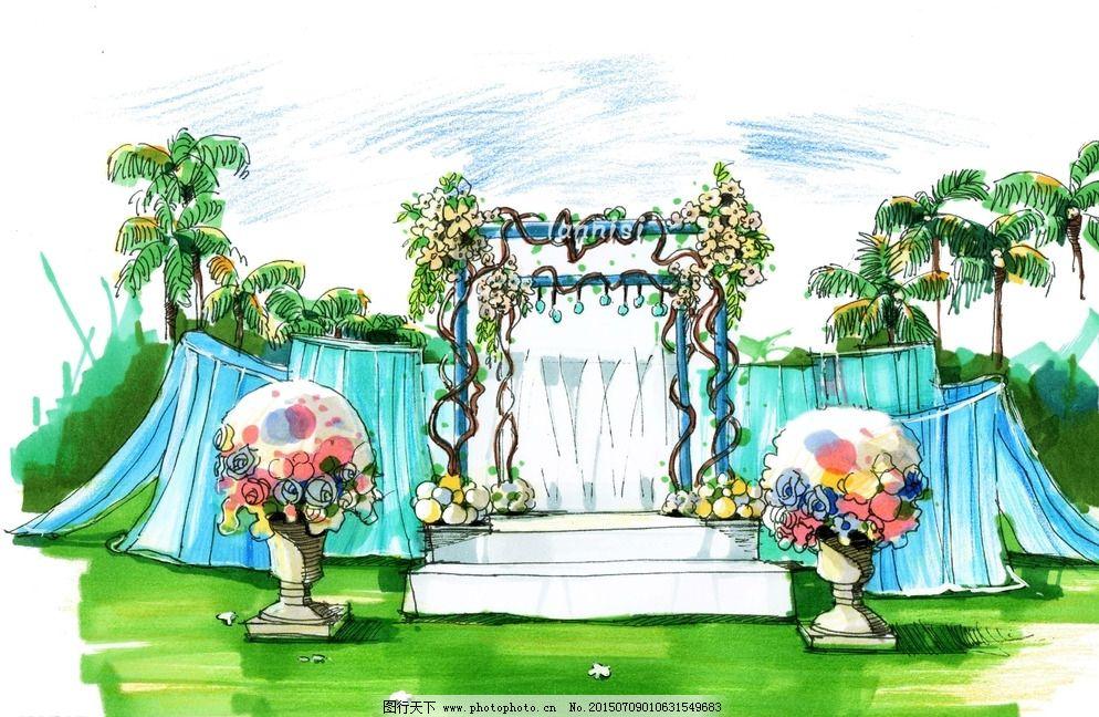 婚礼手绘效果图图片