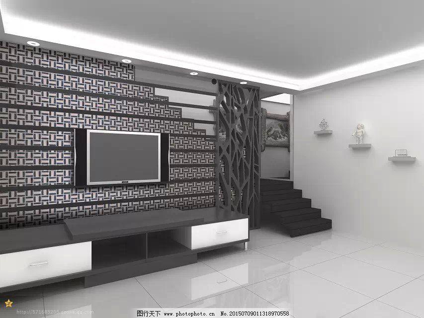 电视机背景墙_室内设计