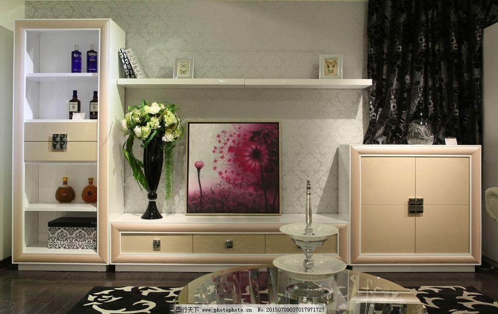 组合电视柜 厅柜 立柜      玻璃茶几 圆形 茶几 沙发 陈列柜 储物柜