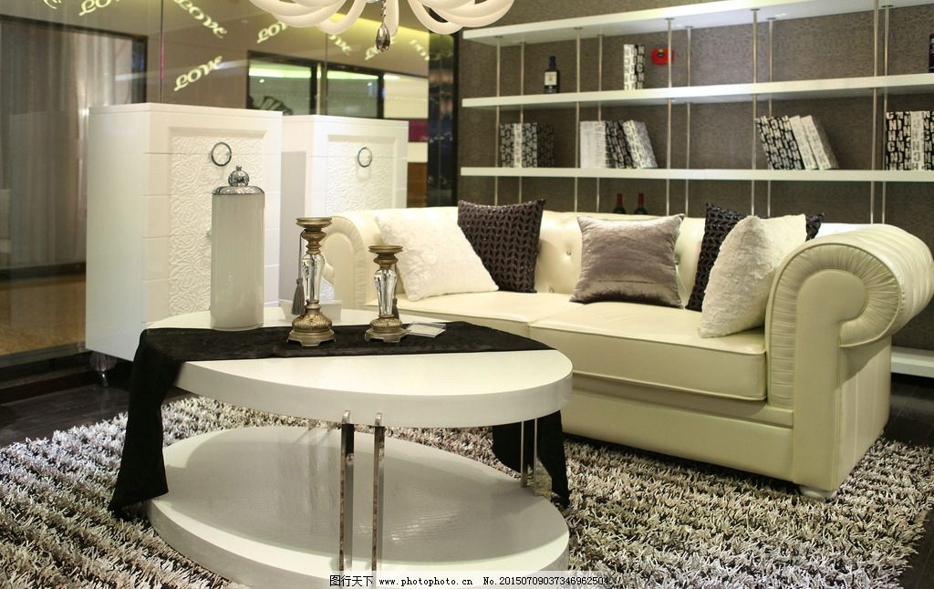 现代家具 休闲沙发 欧式沙发 白色沙发 皮沙发 客厅家具 沙发展厅图片