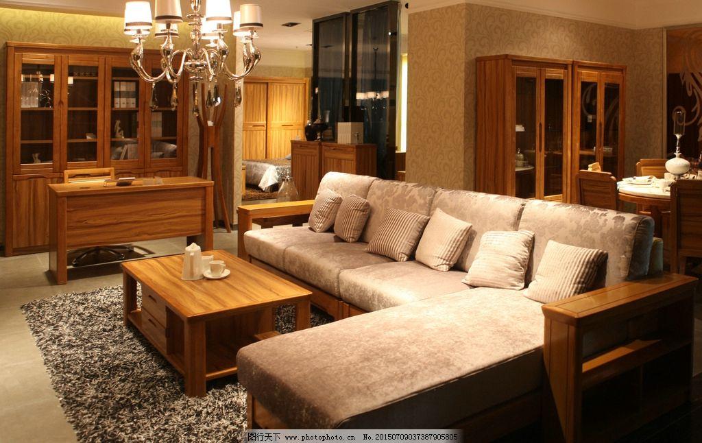 别墅沙发 原木家具