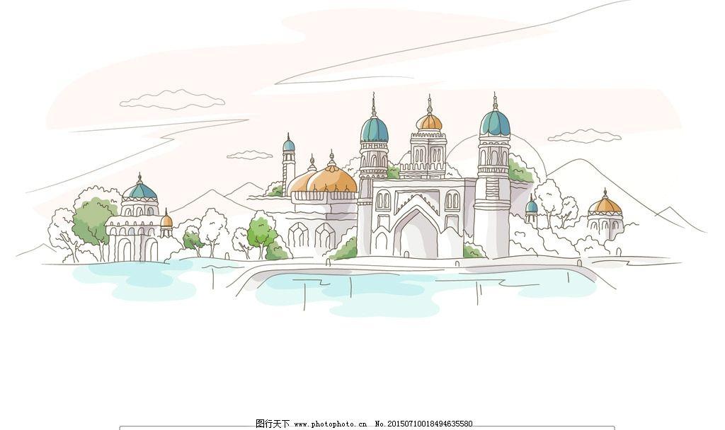 抽象城市风景图片