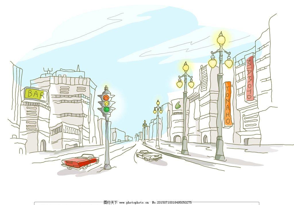 路灯设计图手绘分享展示