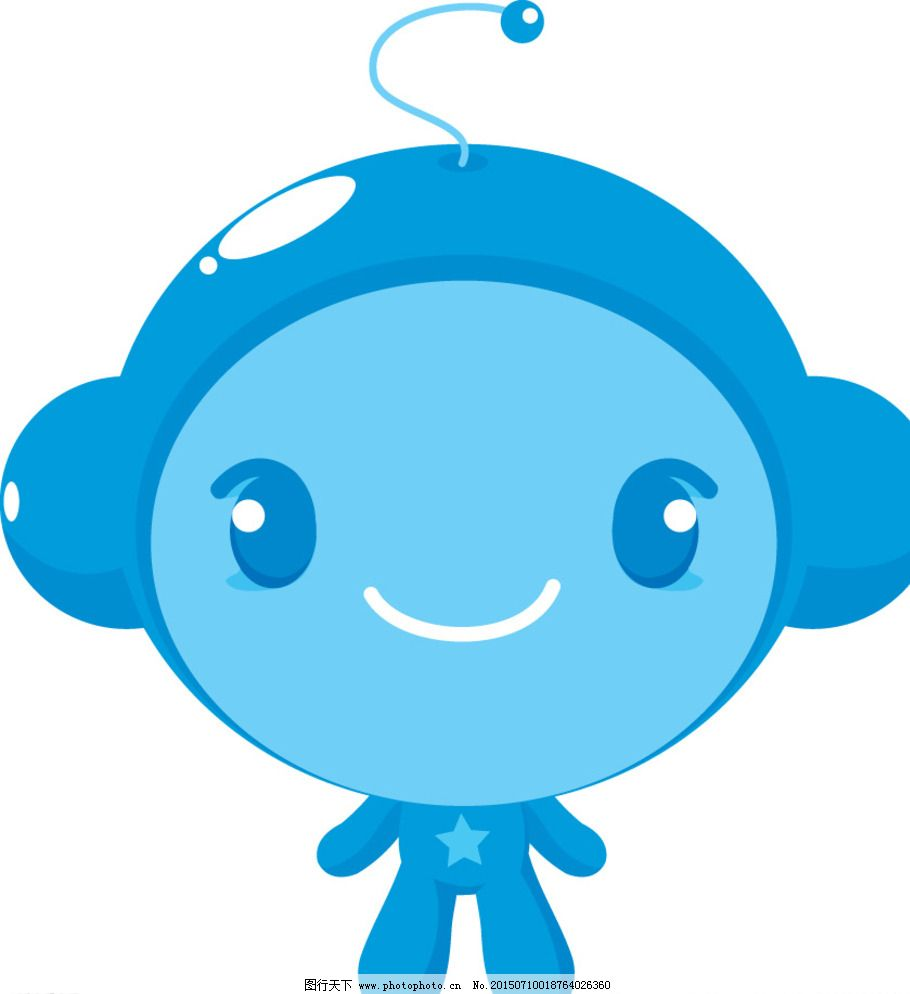 插画 漫画 人物 简笔画人物 帽子 商标 人物商标 标志 蓝色小人 可爱
