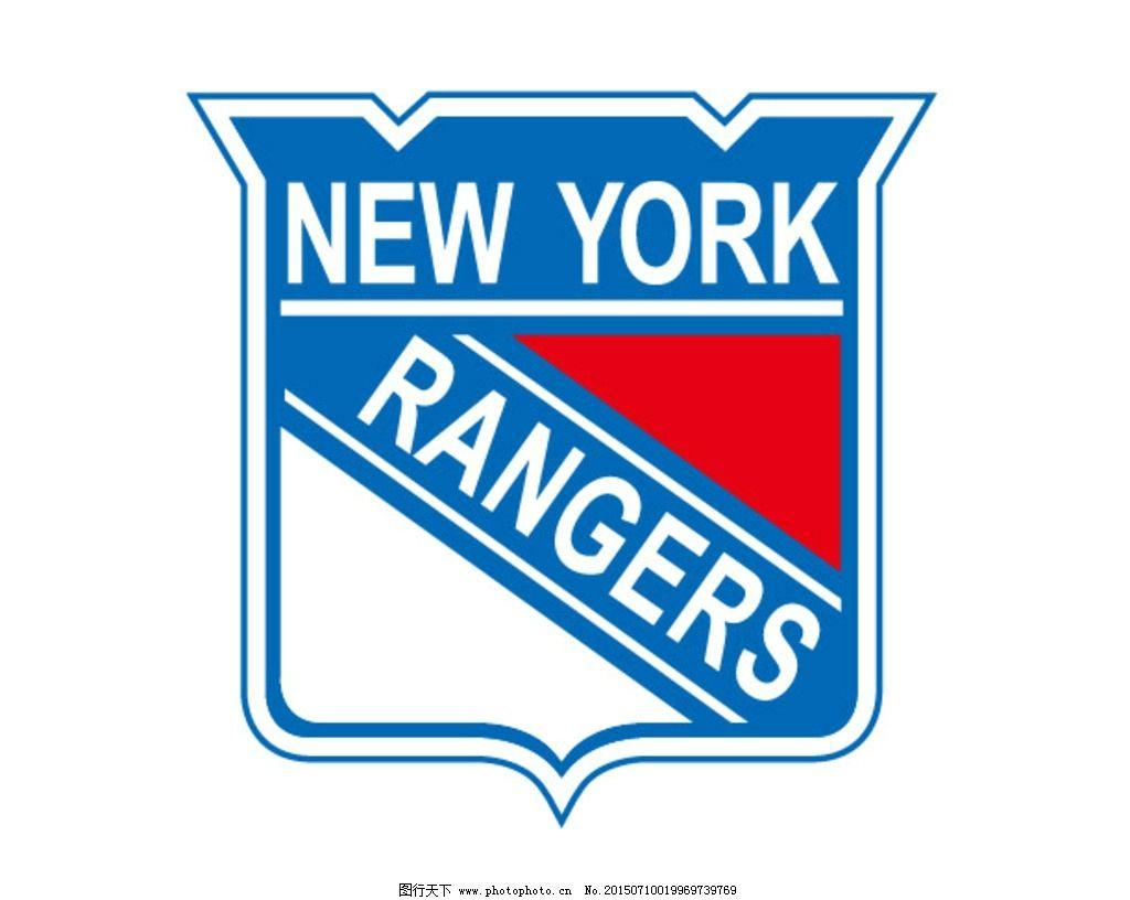 冰球 球队logo 球队 球队标志 纽约游骑兵队 设计 标志图标 企业logo