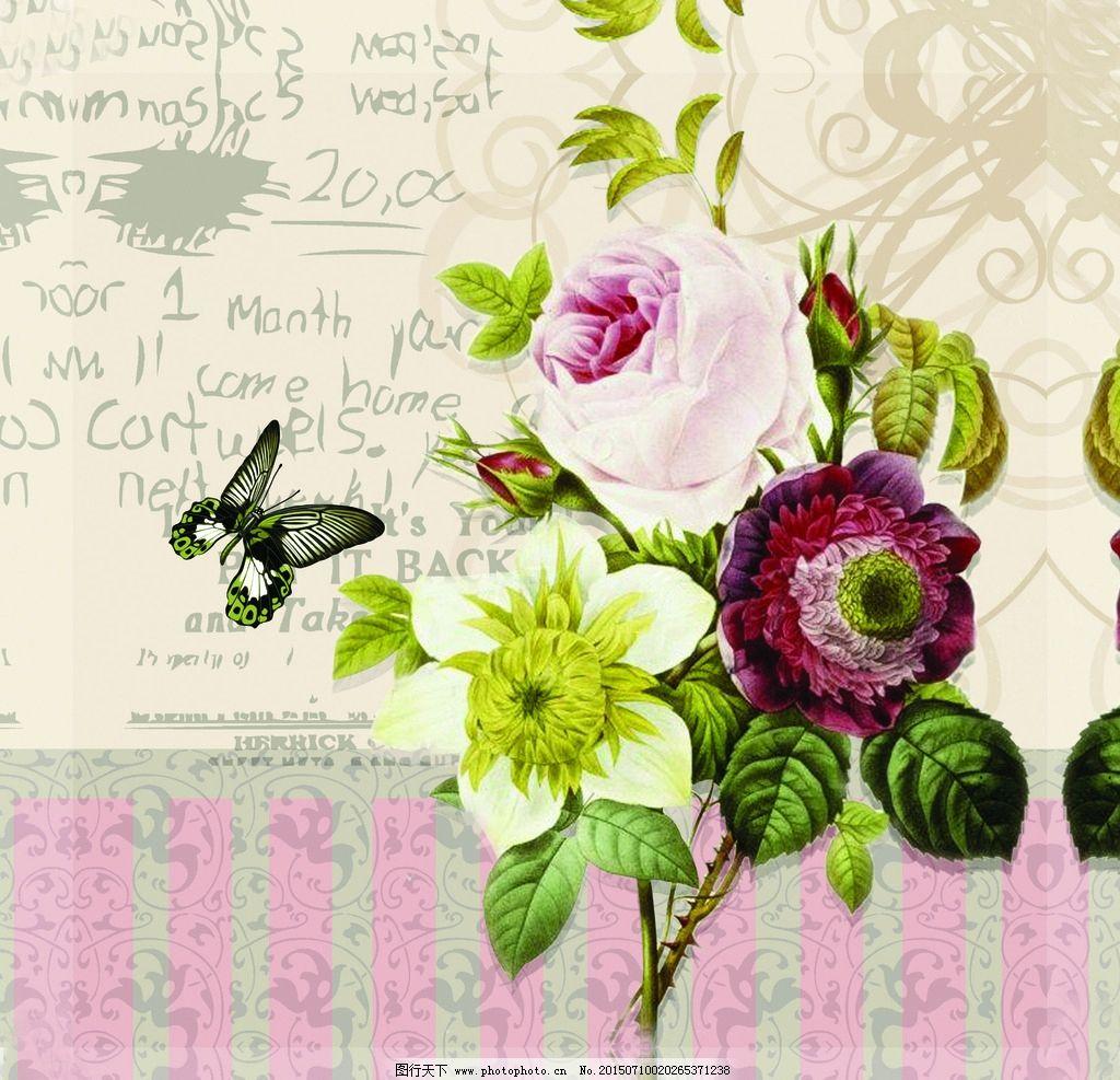 英伦 玫瑰花 复古 欧美风格图片