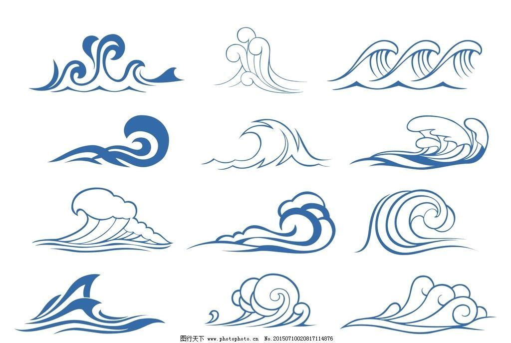 海浪边框简笔画画法 海浪边框素