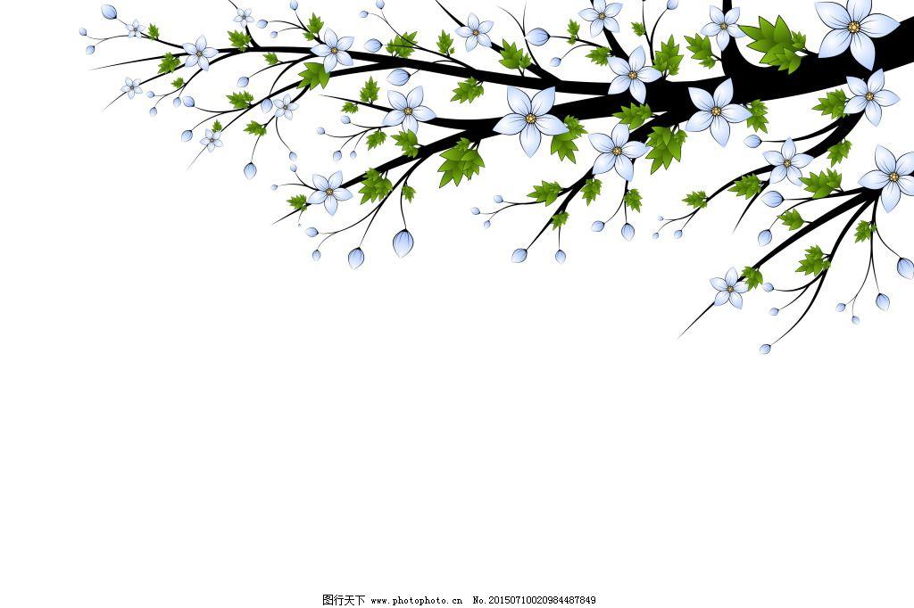 背景图片 小清新 简约背景 绿叶 树叶 树枝 枝叶 发芽 萌芽 清新背景图片