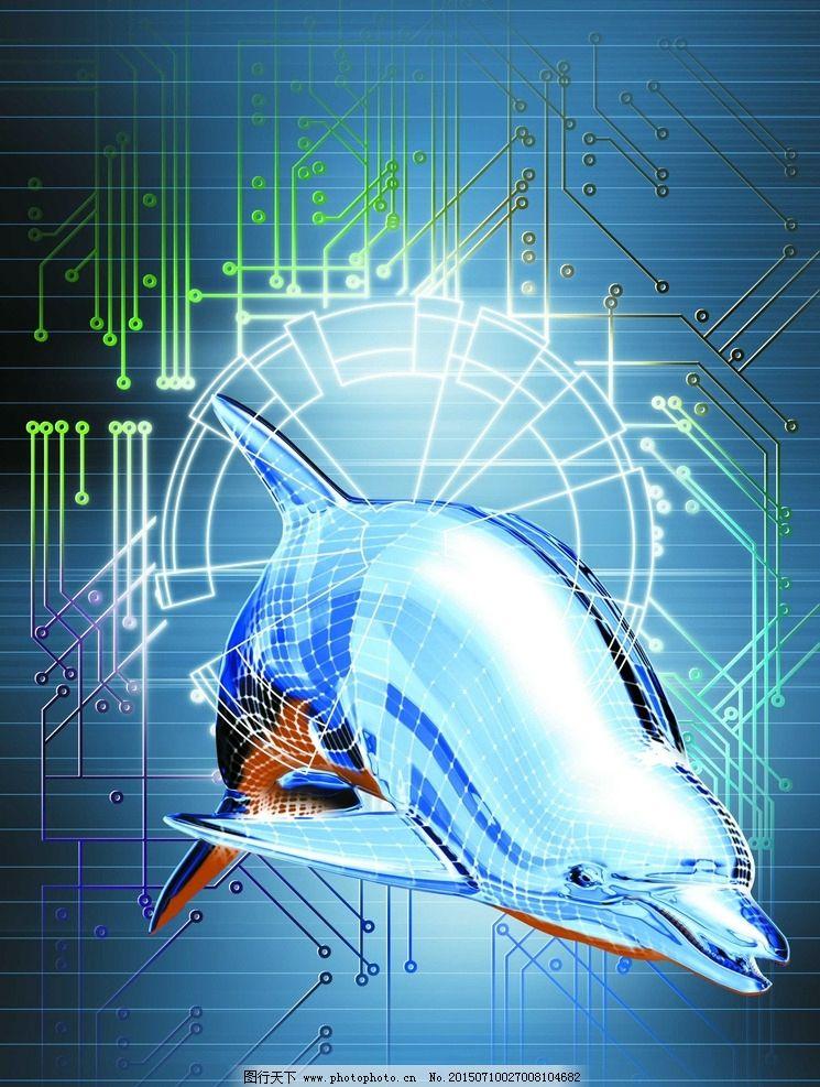 鲸鱼 科技蓝 科技