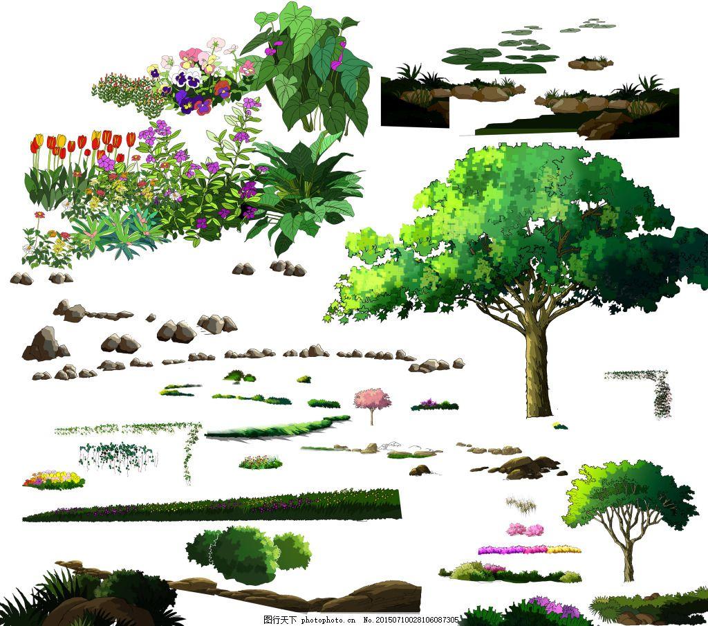手绘植物素材