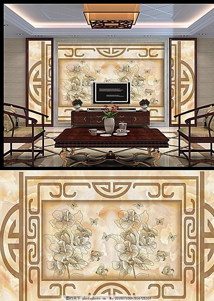 大理石欧式花纹天顶壁画图片