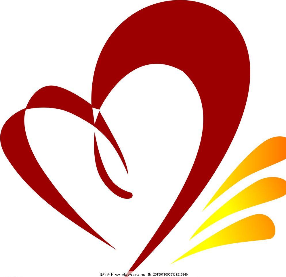 cdr logo logo设计 大学生 广告设计 设计 心连心 心形 心联      心