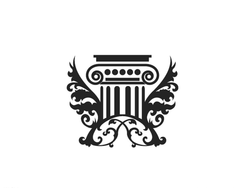 欧式花纹花纹罗马柱标志图片