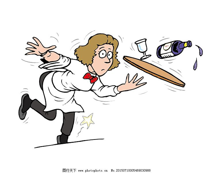 简笔画 配图 卡通人物 漫画人物 儿童画 卡通动物 餐厅 服务员 公益