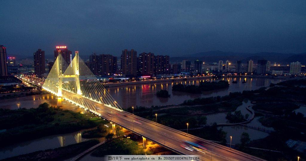 兰州 银滩桥 桥 夜景 航拍 城市夜景 城市 黄河 安宁 航拍图片 摄影