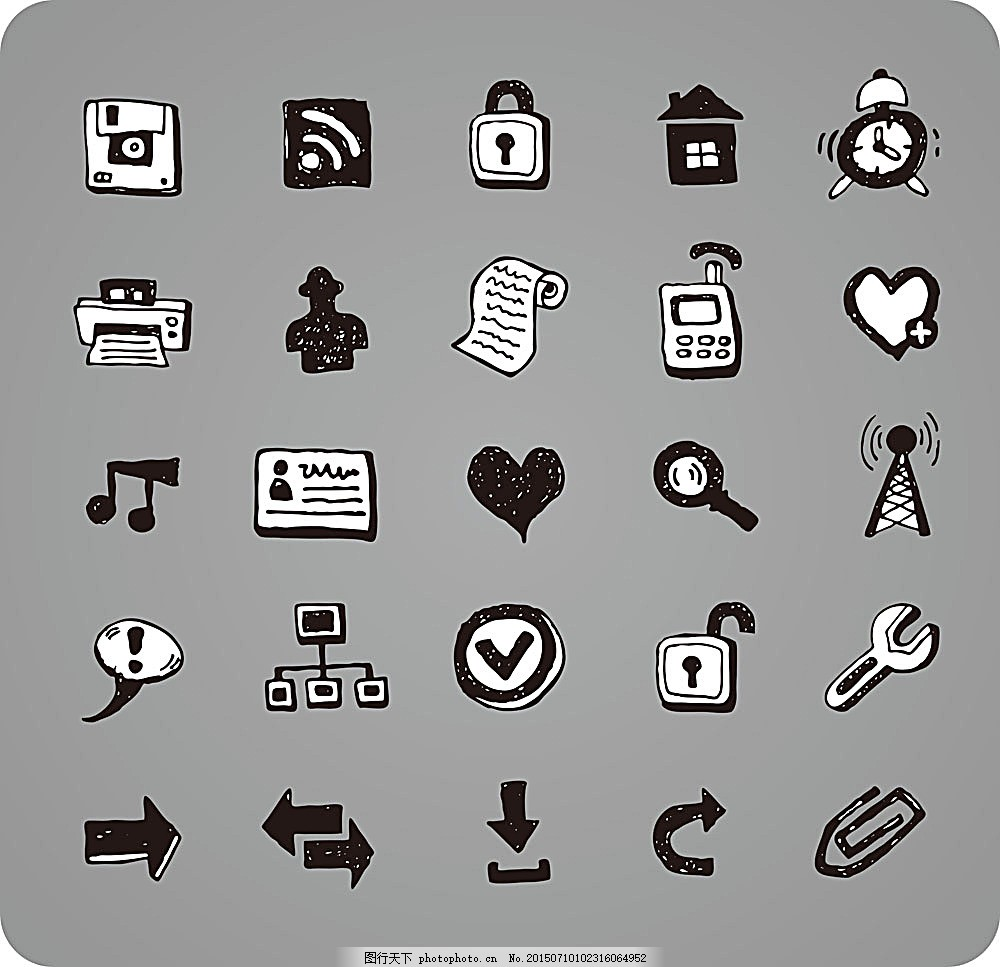 按钮图标 箭头 音乐图标 矢量图标 手绘图标 涂鸦图标 其他 标志图标