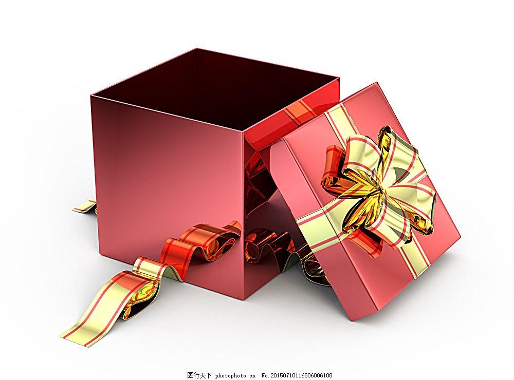 打开的礼物盒 礼品盒 包装盒 盒子 彩带 蝴蝶结 节日庆典 陆地动物