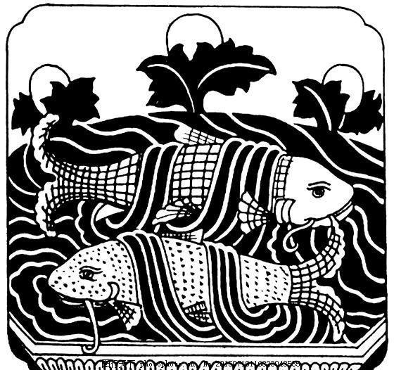 鱼虾纹样 传统图案_0069 设计素材 动物图案 装饰图案 书画美术