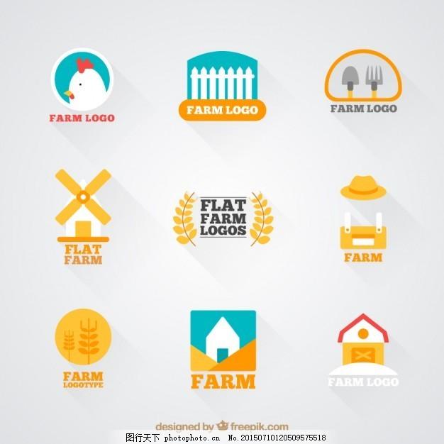 平面绘制可爱的公众标志农场viv平面手工号图片