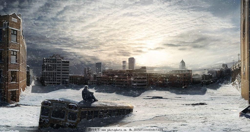 冬天 未来城市 城市图片 创意设计 未来世界 未来科幻图 未来科技生活