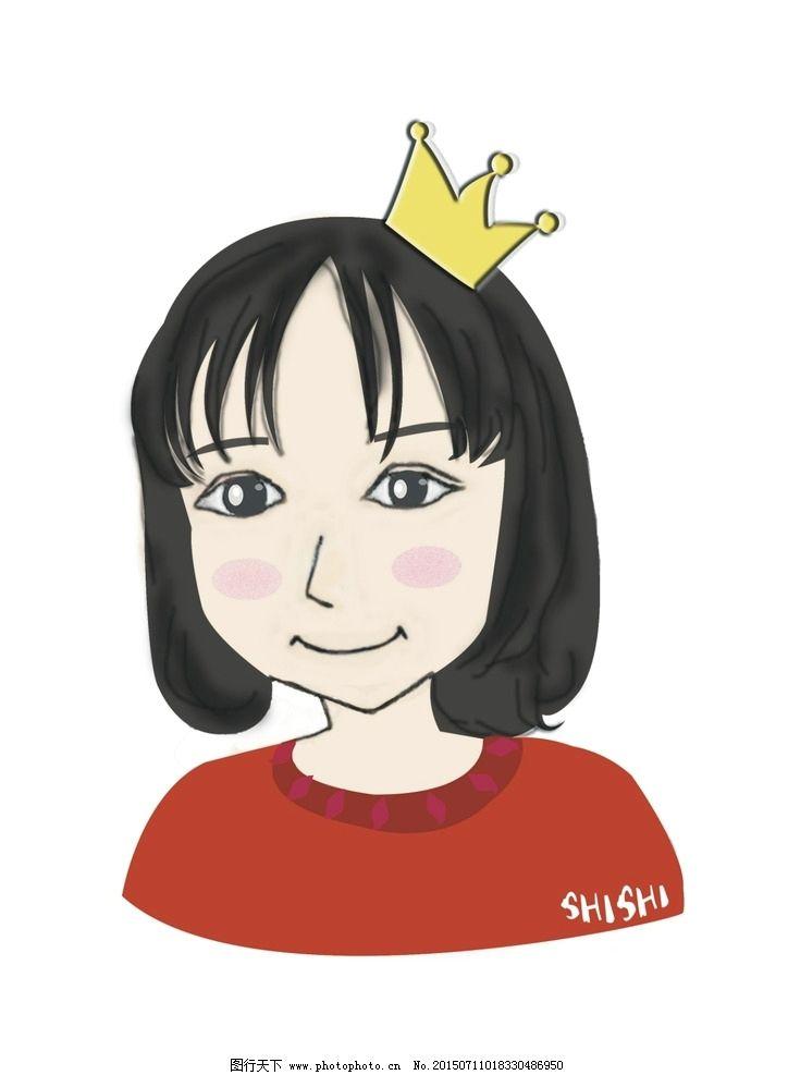 短发女孩漫画_女生头像
