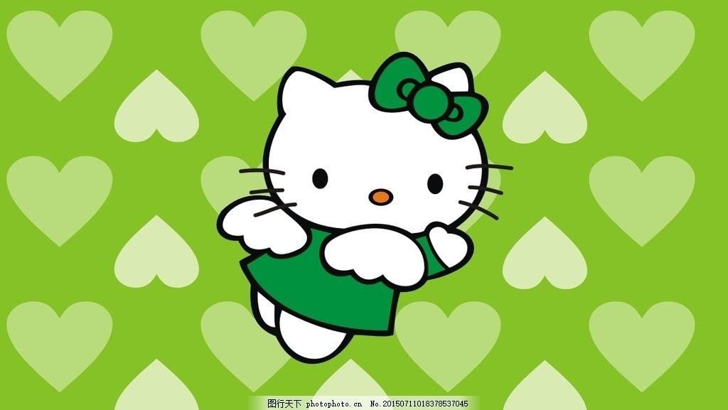 可爱猫咪q版人物图