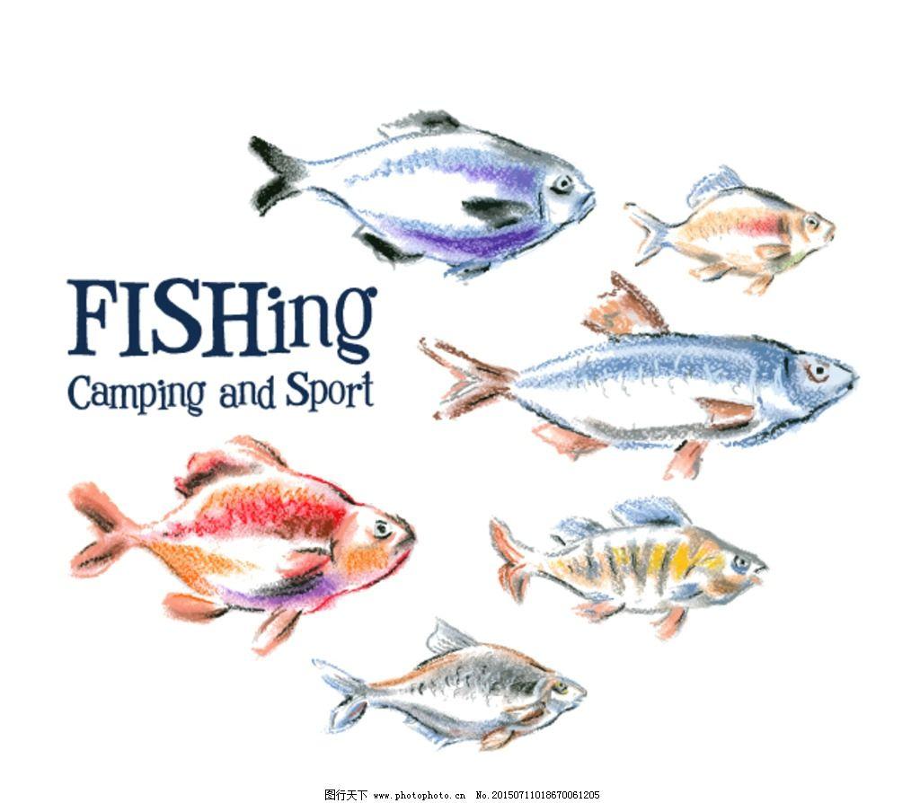 水彩 插画 鱼 小鱼 手绘 水墨 动物 设计 动漫动画 其他 eps
