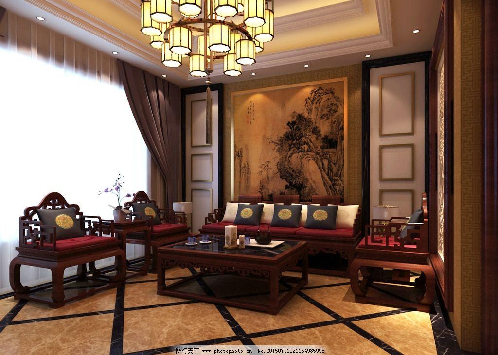 背景墙      中式 别墅 家装 设计 3d设计 3d设计 300dpi tif图片
