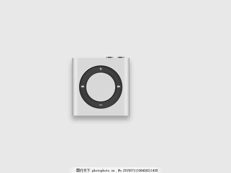 手绘ipod练习 ipod手绘图标 icon练习 ui绘制 图标绘制 ipod 写实图标