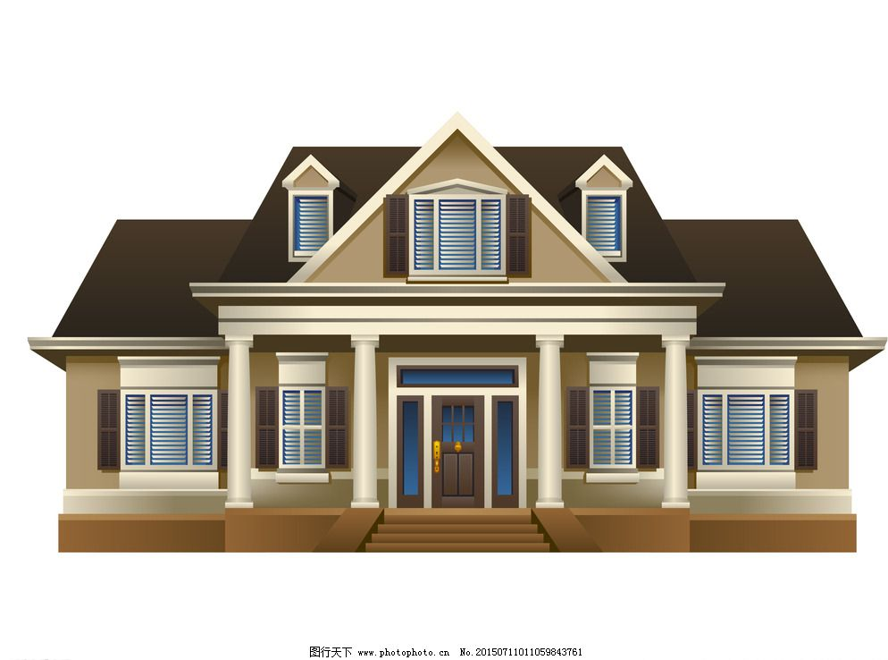 3d 建筑 别墅 欧式建筑 房子 卡通建筑 立体建筑 城镇 3d建筑物 房产