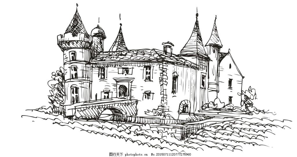 城堡图片大全 手绘