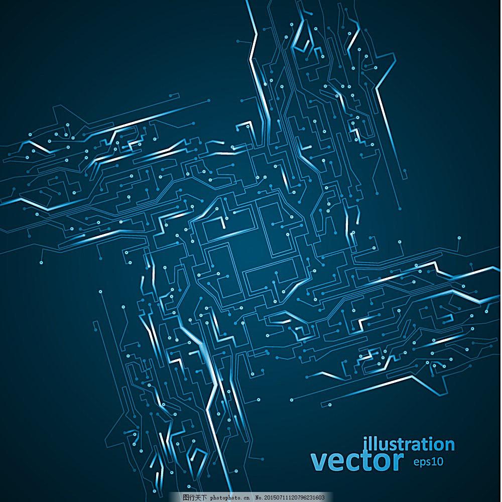 电子板 电子科技背景 创意抽象背景 电路图背景 其他 底纹边框 矢量