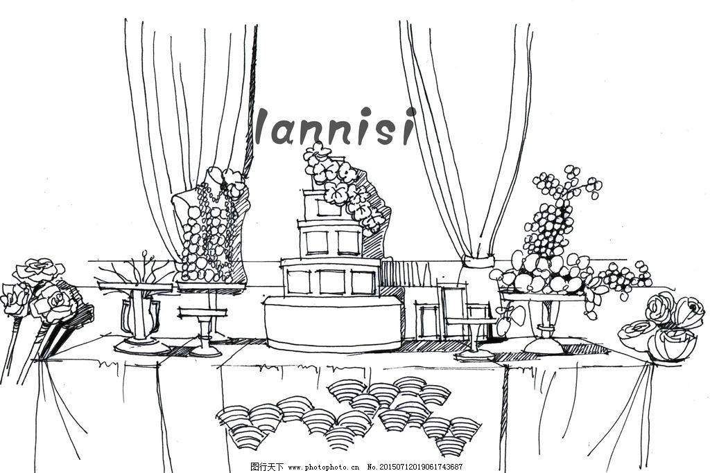 婚礼甜品区手绘表现——兰尼斯图片