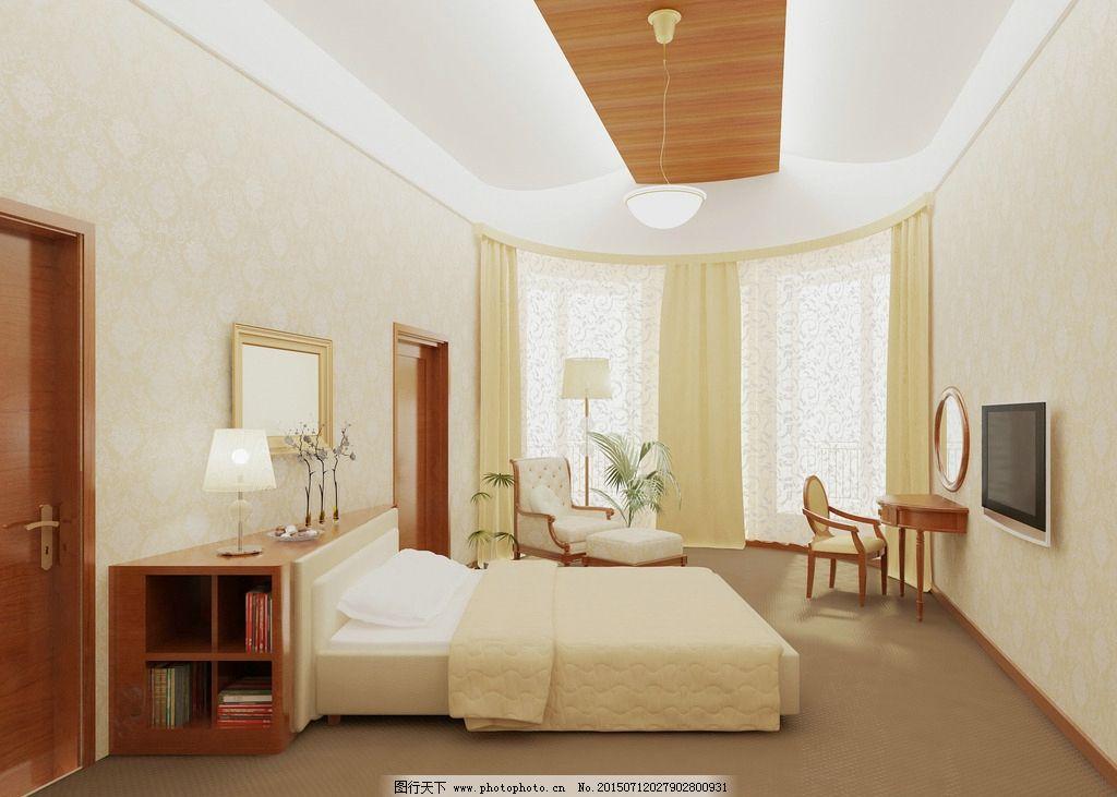 欧式风格卧室图片_室内设计_环境设计_图行天下图库