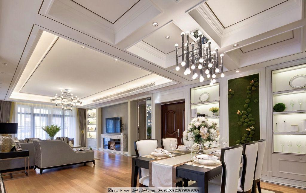 济南米格设计 欧式样板间      餐厅 米格空间设计 米格设计样板间