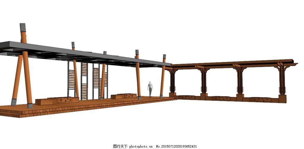 园林 景观 景观素材 方形廊架 现代欧式设计 现代园林 方形 园林花架