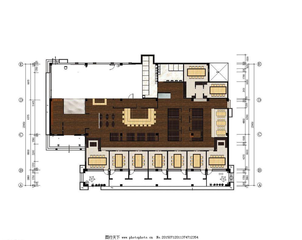 和式餐厅平面吊顶图图片