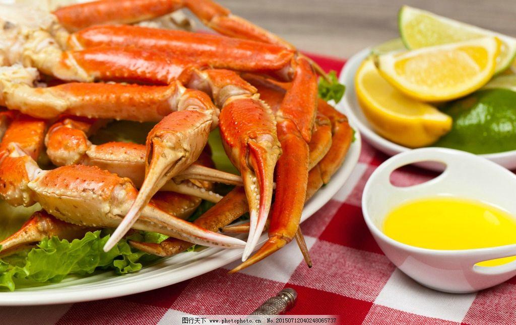 海鲜食物大餐 海鲜 大闸蟹