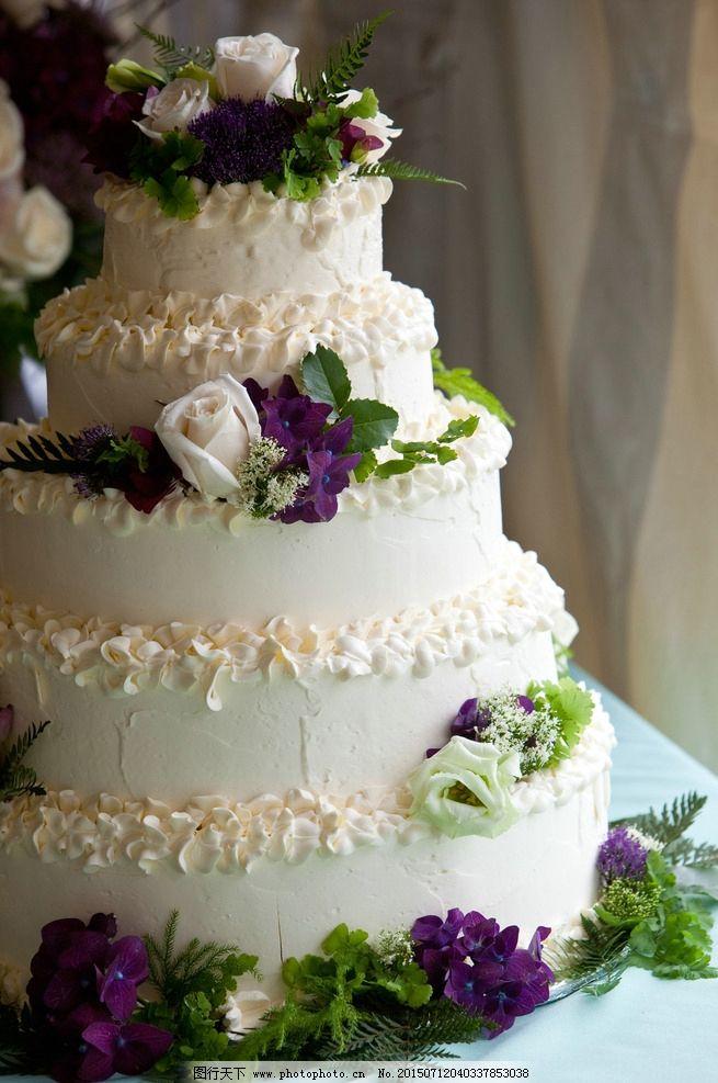 婚庆蛋糕 艺术 艺术蛋糕 爱情 婚礼 婚庆 结婚蛋糕 奶油蛋糕 五层蛋糕 甜点 美食 紫色蛋糕 白色蛋糕 摄影 餐饮美食 西餐美食 300DPI JPG