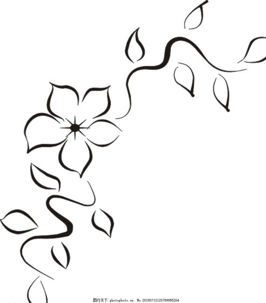 简花 简单 花 线条 背景 底图 花卉类 设计 底纹边框 背景底纹 cdr 白