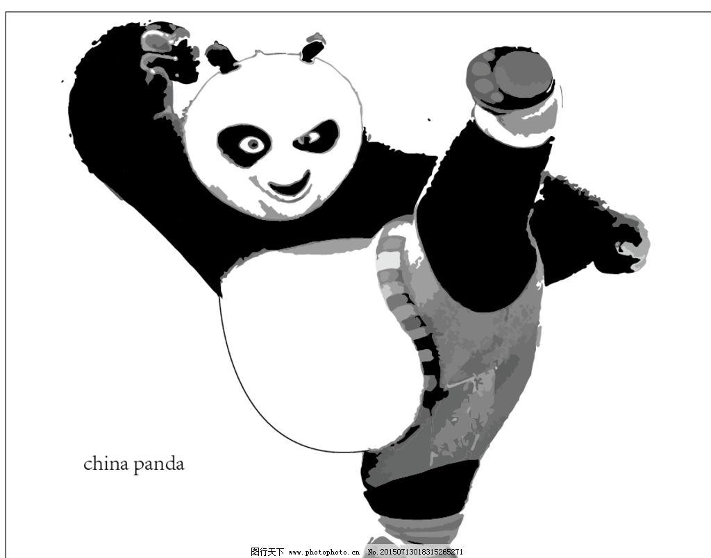 熊猫黑白照图片_动漫人物