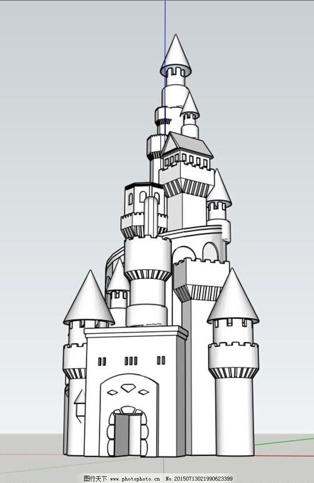 小城堡图片免费下载 3d设计